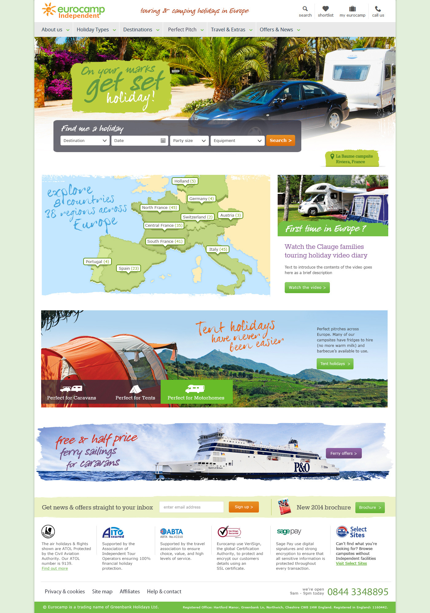 Eurocamp independent website design