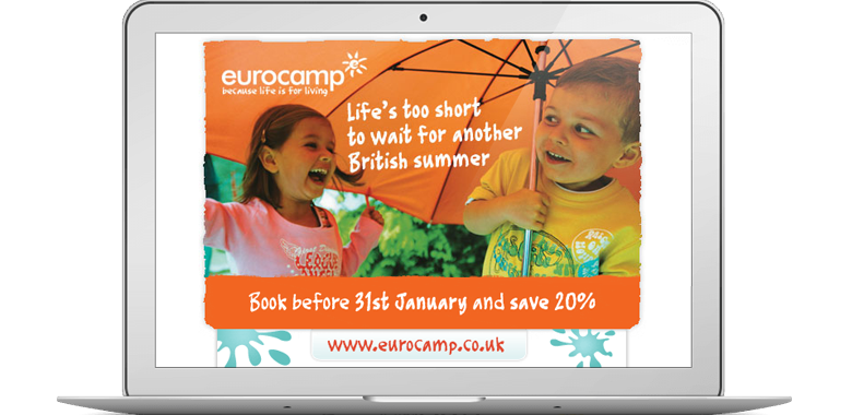 Eurocamp life is short email campaign
