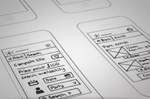 lo-fi wireframe sketching