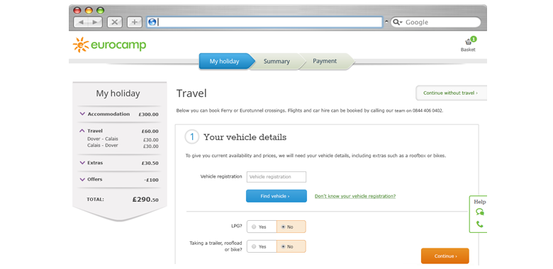 ecommerce travel booking