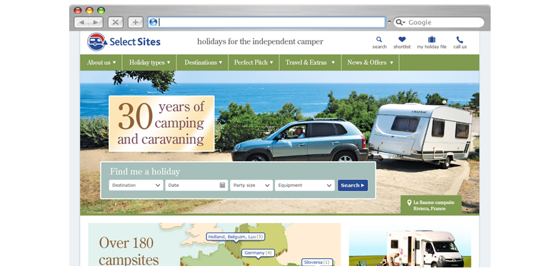 Eurocamp Responsive Ecommerce Holiday Website